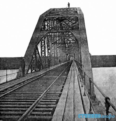 Железнодорожный мост через Оку, фото 1900 г.