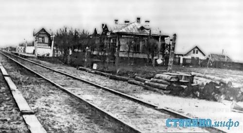 Железнодорожный полустанок Ступино, фото 1915 г.