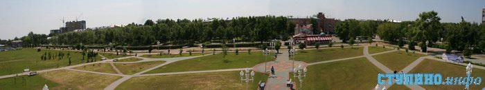 Современная фотография бульвара Победы города Ступино